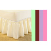 UNIVERSAL - ONE SIZE FITS ALL BED VALANCE - 6 COLOURS
