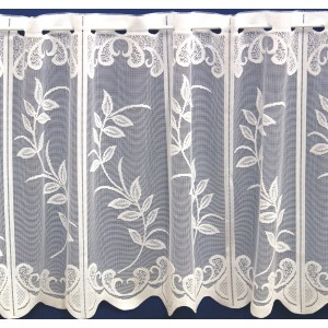 WILLOW CAFE CURTAIN - AVAILABLE IN WHITE