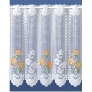 MARIGOLD CAFE NET - JACQUARD LACE- SOLD BY THE METRE - CUT TO WIDTH