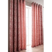 FLORA – ALLOVER FLORAL JACQUARD – Woven Jacquard Lined Curtain – Ring Top