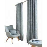 LOLA – Leaf Trail – A Striking Design Textured Jacquard – Lined Ring Top Curtains