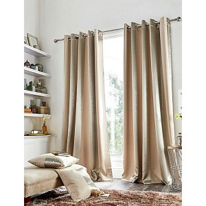 PETRA – METALIC STRIPED DIM OUT CURTAIN – Ring Top