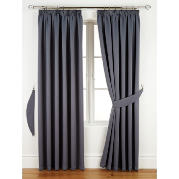 Woven Blackout Tape Top Ready Made Curtain