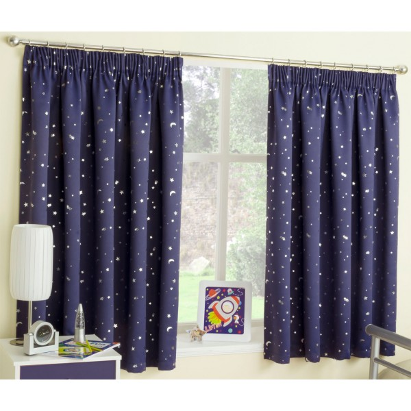 moonlight moon stars pink blue printed bedroom