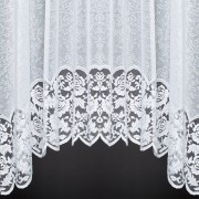 LAURA JARDINIERE - A High Quality Jacquard Lace Jardiniere Curtain with Scalloped Base