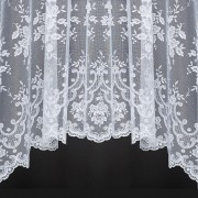 MICHELLE JARDINIERE - A Beautiful Jacquard Lace Jardiniere Curtain with Scalloped Base