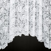 SOPHIE JARDINIERE - A Heavy Jacquard Lace Jardiniere Curtain with Scalloped Base