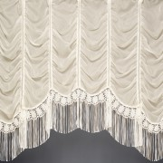 JACQUI FESTOON JARDINIERE -  A beautiful festoon voile curtain