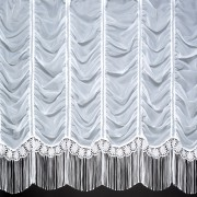 JACQUI - A Beautiful Voile Curtain with Embroidered Flower and Raindrop Base