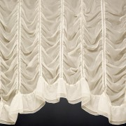 MILLIE JARDINIERE. A beautiful festoon voile curtain made to measure