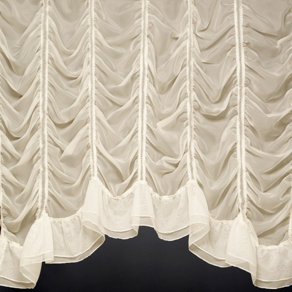 millie jardiniere a beautiful festoon voile curtain made. Black Bedroom Furniture Sets. Home Design Ideas