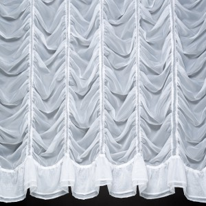 MILLIE - A Beautiful Voile Festoon Curtain with Double Frill Base