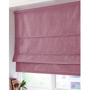 BLACKOUT ROMAN BLIND - MADE IN FAUX SILK - HEATHER