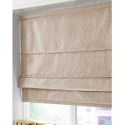 BLACKOUT ROMAN BLIND - MADE IN FAUX SILK - NATURAL