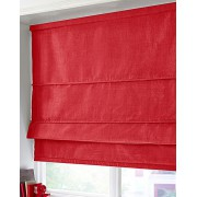 BLACKOUT ROMAN BLIND - MADE IN FAUX SILK - RED