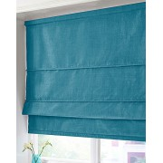 BLACKOUT ROMAN BLIND - MADE IN FAUX SILK - TEAL